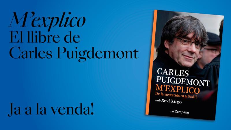 M'explico, el llibre de Carles Puigdemont